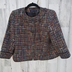 Anne Klein Colorful Tweed Blazer